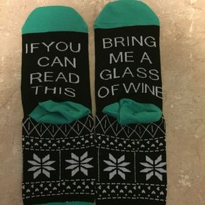 "2 PAIR  ""wine"" socks"